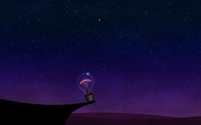 Picture light bulb, stars, night, 154