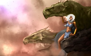 Picture Game of Thrones, Daenerys Targaryen, dragons, Mother of Dragons, Ice and Fire, Daenerys Stormborn