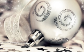 Picture stars, macro, glare, tape, pattern, toy, silver, ball, sequins, decoration, tinsel, curl