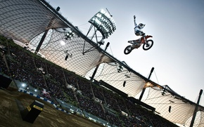 Picture jump, red bull, FMX, freestyle, Cliffhanger, iron balls, X-fighter