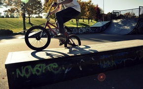 Picture bike, Sport, guy, BMX, the trick, skate Park