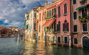 Picture water, home, channel, Venice