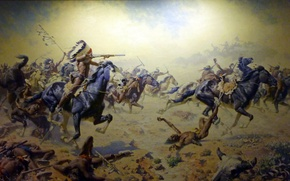 Picture picture, painting, painting, Frederic Remington, Custer's Last Stand at Woolaroc