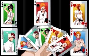 Picture game, Bleach, anime, Kuchiki Rukia, Joker, sword, Matsumoto, queen, asian, Kurosaki Ichigo, manga, king, japanese, ...
