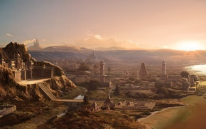 Picture mountains, the city, the Sumerians, ancient