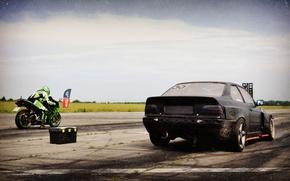 Picture BMW, Kawasaki, race, Ninja