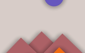 Picture Android, Circles, Design, Line, Colors, Abstraction, Material, Triangles, 5.0. Lollipop