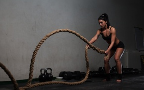 Picture rope, training, crossfit