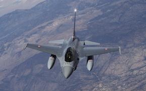 Wallpaper Fighting Falcon, earth, flight, F-16