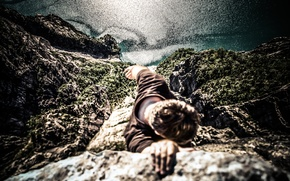 Picture rock, height, extreme, photo, the view from the top, photographer, Andrés Nieto Porras, hook, grip
