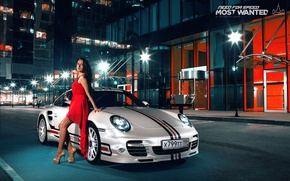 Picture 911, Porsche, dress, brunette, turbo, nfs, most wanted, smotra