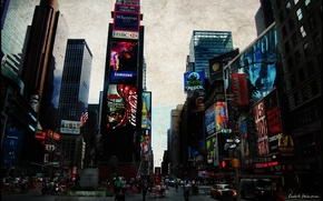 Picture the city, new York, USA, times square