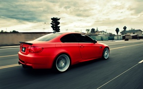 Picture road, BMW, speed, BMW, red, e92, The 3 series