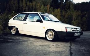 Picture white, Lada, VAZ, 2108, BBS, stance