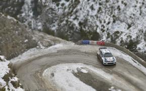 Picture Winter, Volkswagen, Turn, WRC, Rally, Rally, Polo, Sebastien Ogier, Julien Ingrassia, tilt- shift
