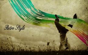 Picture grass, style, retro, people, dance, break
