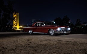 Picture Chevrolet, Night, Impala, 1962