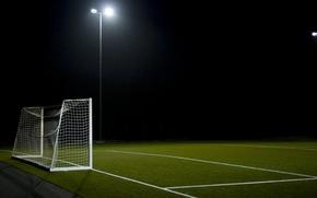 Picture field, football, sport, gate