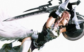 Picture sword, armor, shield, Final Fantasy, Final Fantasy XIII-2