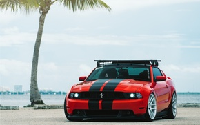 Picture Red, Ford Mustang, Velgen Wheels, VMB6 Matte Silver
