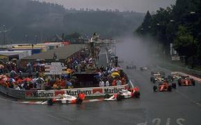 Picture Ayrton Senna, Season 1989, Alain Prost, GP Belgian, McLaren MP4/5