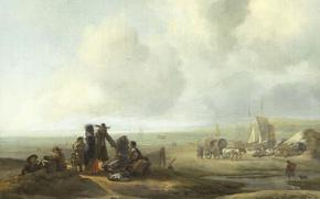 Picture landscape, Beach, picture, Jacob Esselens