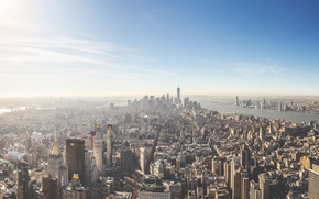 Picture United States, skyline, New York, Manhattan, NYC, New York City, Empire State Building, buildings, architecture, …