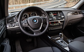 Picture interior, the wheel, salon, F25, crossover, BMW, BMW