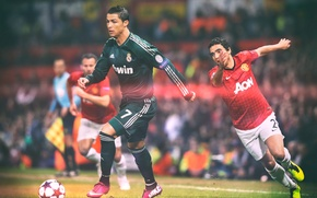 Picture stadium, Real Madrid, Giggs, Ronaldo, Cristiano, Man Utd, Rafael, hala Madrid