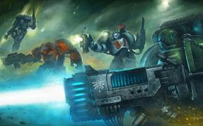 Wallpaper space marine, Dark Angel, Warhammer 40000, space wolf., Long War, Eternal Crusade