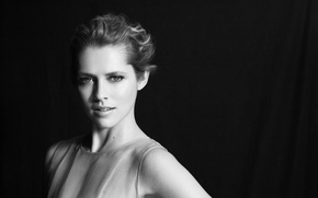 Wallpaper blonde, Teresa Palmer, actress, Teresa Palmer, black and white