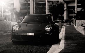 Picture b/W, Porsche, autowalls, porsche 911