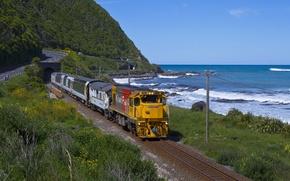 Picture car, wallpaper, train