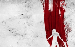 Wallpaper white, blood, background