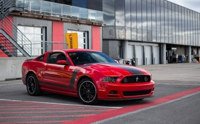 Picture Mustang, Ford, Red, 302, Boss
