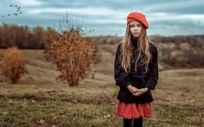 Wallpaper Look, Autumn, Girl, Mood, Kira Yanenka