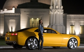 Wallpaper camaro, megan fox, transformers