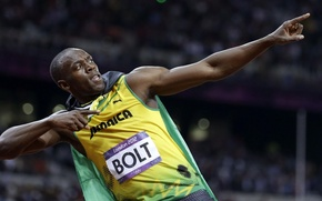 Picture background, athlete, male, Jamaica, gesture, runner, Men, world champion, Sprinter, London 2012, London 2012, world …