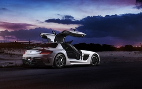 Picture car, Mercedes, Mercedes SLS, tuning, rechange, Black Series, William Stern, RennTech