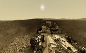 Wallpaper NASA, Sun, Mars, Curiosity