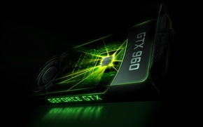 Wallpaper GTX, Nvidia, GeForce, video card, 960