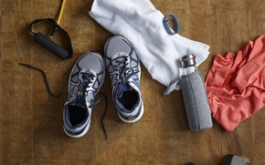Wallpaper jump rope, water bottle, sportswear, floor, fitness