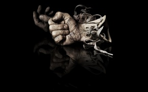 Wallpaper hands, gloves, fists