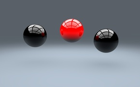 Wallpaper balls, render, scene