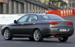 Picture Alfa Romeo, Car, Alfa, Romeo, Back, Sedan, Track, 166, Alfa Romeo 166, Alfa 166
