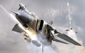 Wallpaper battle, attack, MiGs, the MiG-23
