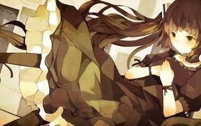 Picture dress, art, girl, vocaloid, hatsune miku, Vocaloid