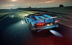 Picture Roadster, Lamborghini, Flame, Aventador, Road, Backfire, Malek Fayoumi PhotoGraphy