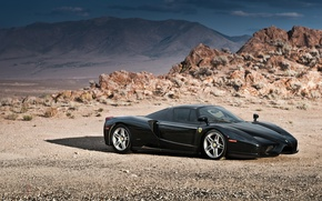 Picture Ferrari, Enzo, Black, Supercar