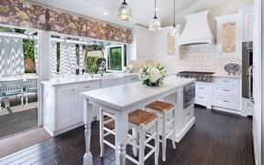 Picture design, furniture, window, kitchen, mansion, Design, Interior, Kitchen